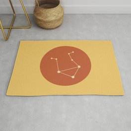 Libra Constellation - Bold Red & Yellow Rug