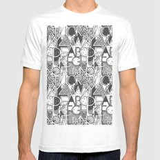 Alphabet MEDIUM Mens Fitted Tee White