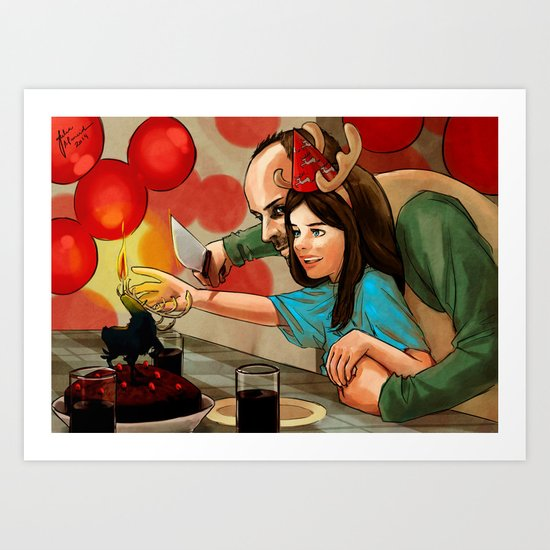 Happy birthday dear! Art Print