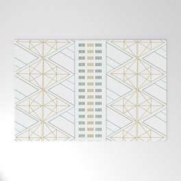 Gold Aqua Geometric Pattern 1.0 Welcome Mat