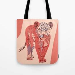 Young lion abstract Tote Bag
