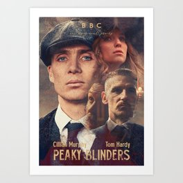Peaky Blinders, Cillian Murphy, Thomas Shelby, BBC Tv series, Tom Hardy, Annabelle Wallis Art Print