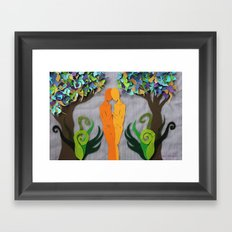 Summer kiss 1 Framed Art Print