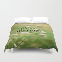 jane austen Duvet Covers featuring Jane Austen Quote Charm Tenderness Heart by KimberosePhotography