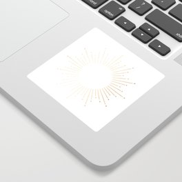 Sunburst Gold Copper Bronze on White Sticker