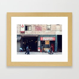 Olympia Garage Framed Art Print