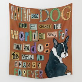Dog World Forever Wall Tapestry