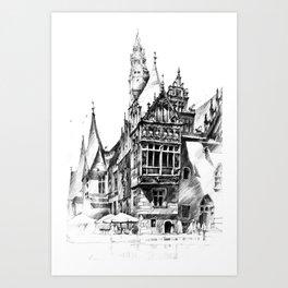 Wroclaw City Hall Art Print