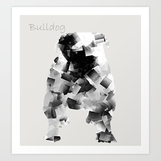 the bulldog  Art Print