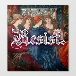 Resist. Canvas Print