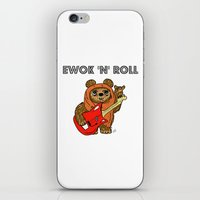 ewok iPhone & iPod Skins featuring Ewok 'N' Roll by Trinity Bennett