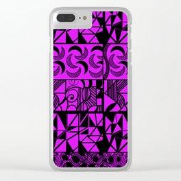 Purple Geometric Clear iPhone Case