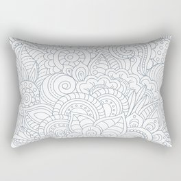 Background Zentangle (doodle) flowers Rectangular Pillow