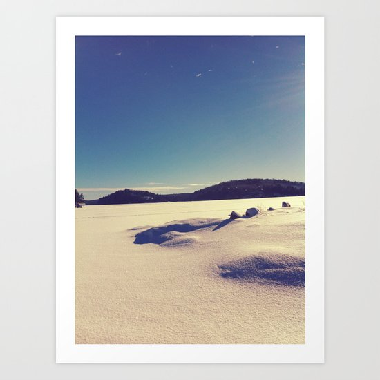 Kenisis Lake snow Art Print