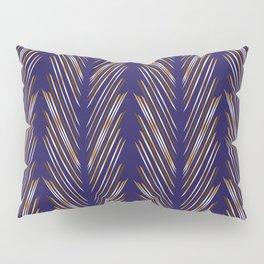Navy Blue Wheat Grass Pillow Sham