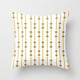 geometric design bown rhombuses Throw Pillow