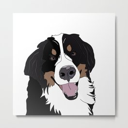 Angus the Bernese Mountain Dog Metal Print