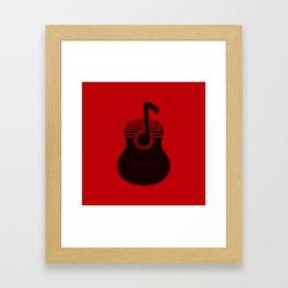 Classical Notes RED Framed Art Print