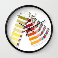 pantone Wall Clocks featuring PANTONE by VincenzoRusso