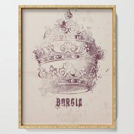 Borgia, tv series, alternative movie Poster, John Doman, Mark Ryder, Isolda Dychauk, Marta Gaslini Serving Tray