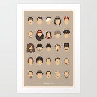 25 FACES OF TOM H Art Print