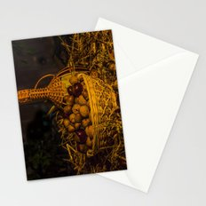 Still-life with nuts and wine Stationery Cards