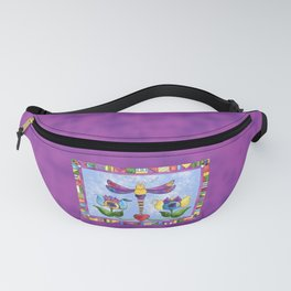 Dragonfly Love with Border Fanny Pack