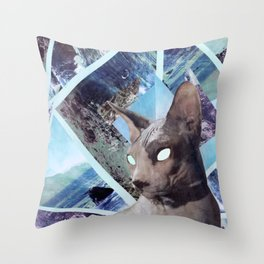 Nude Cat Throw Pillow