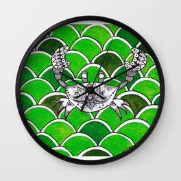 Mandala crab Wall Clock
