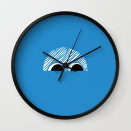 Block Eyes Wall Clock