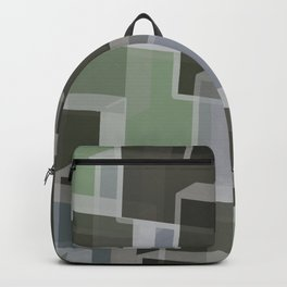 Green Camo Lucite blocks Backpack