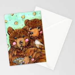 Bears with Porridge Stationery Cards