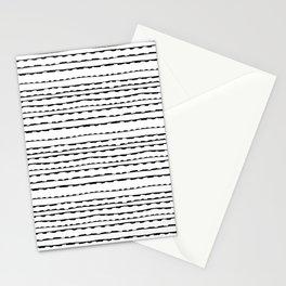 Torn (Horizontal) - Black on White Stationery Cards