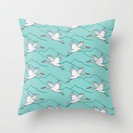 Yesan Cranes Throw Pillow