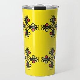 Cayni Desing Yellow Travel Mug