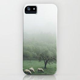 Sheeps - vert iPhone Case