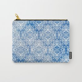 Damask Princess Blue Carry-All Pouch