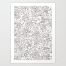 Flowers in lines Art Print