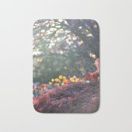 FLOWERS AND TREES IN MY GARDEN Bath Mat