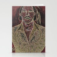 nick cave Stationery Cards featuring Cave by Alec Goss