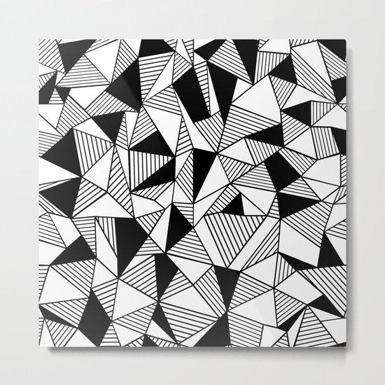Ab Lines with Black Blocks Metal Print