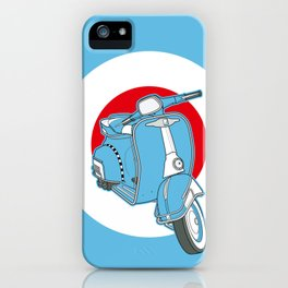 Blue Scooter iPhone Case