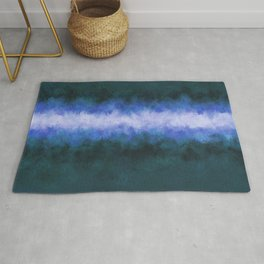 Slate Blue Steel Abstract Rug