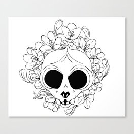 Crocus skull Canvas Print