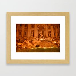 Trevi at night Framed Art Print
