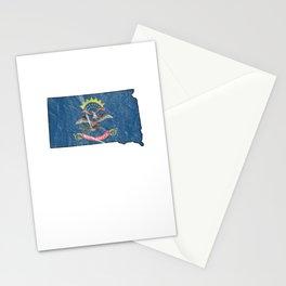 Patriotic North Dakotans Dakota Flag Nationalism USA Stationery Cards