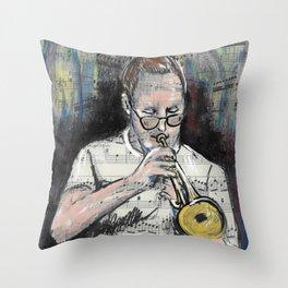 Jazz Trumpet 1 Throw Pillow