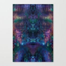 Violet snake skin pattern Canvas Print