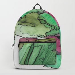 Earth and Sun Abstract Watercolor Fine Art Backpack