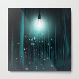 Floating Lights Room Metal Print